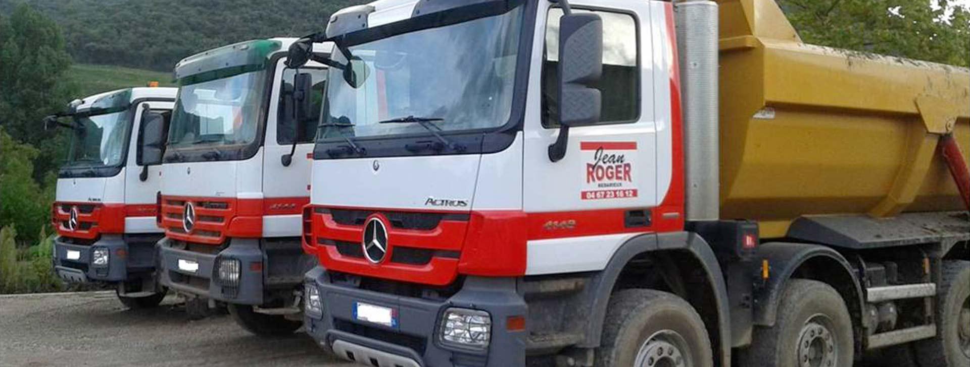 Flotte de véhicules adaptée,  VRD, assainissement...